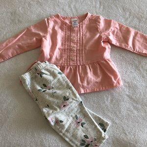 Carter's 2-piece set with pants and blouse